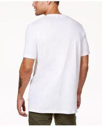 Sean John - White Men's Script City Logo-print T-shirt for Men - Lyst