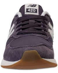 New Balance Blue Women's 420 Suede Casual Sneakers From Finish Line for men