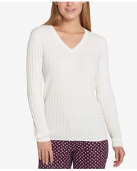 Tommy Hilfiger - White Cable-knit Sweater - Lyst