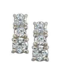 Giani Bernini - Metallic Cubic Zirconia Graduated Stud Earrings In Sterling Silver, Created For Macy's - Lyst