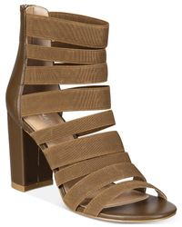 Charles David - Brown Ericka Strappy Block-heel Sandals - Lyst