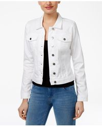 Kut From The Kloth | Helena Optic White Wash Denim Jacket | Lyst
