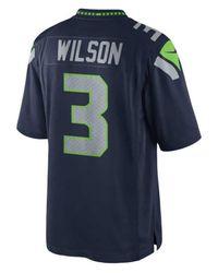 Nike Blue Russell Wilson Seattle Seahawks Limited Jersey for men