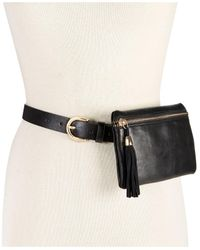 INC International Concepts | Black Tassel Zip Fanny Pack | Lyst