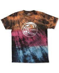 O'neill Sportswear - Multicolor Lawn Tie Dye Graphic T-shirt for Men - Lyst