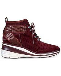 Jambu - Red Offbeat Sneaker Wedges - Lyst