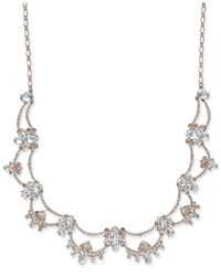 Kate Spade - Metallic Rose Gold-plated Crystal Scalloped Collar Necklace - Lyst