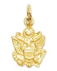 Macy's - Metallic 14k Gold Charm, U.s. Army Insignia Charm - Lyst