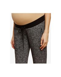 Jessica Simpson - Gray Maternity Zip-cuff Jogger Pants - Lyst