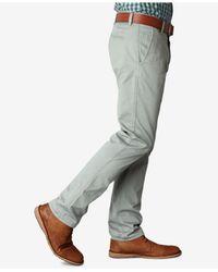 Dockers Gray Slim-fit Alpha Khaki Pants for men