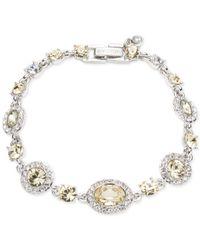 Givenchy Metallic Silver-tone Pavé & Stone Flex Bracelet, Created For Macy's