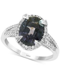Effy Collection Effy® Gray Spinel (3-1/4 Ct. T.w.) & Diamond (1/4 Ct. T.w.) Ring In 14k White Gold