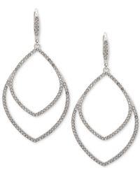 Anne Klein - Metallic Crystal Orbital Drop Earrings - Lyst