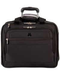 Delsey Black Helium Fusion Rolling Trolley Tote