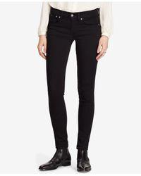 Polo Ralph Lauren - Black Tompkins Super Skinny Jeans - Lyst