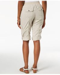 Style & Co. Natural Drawstring Cargo Shorts, Created For Macy's