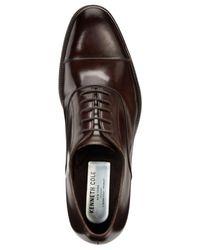 Kenneth Cole - Brown Brock Cap-toe Oxfords for Men - Lyst