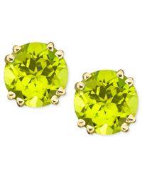 Macy's Metallic 14k Gold Peridot Stud Earrings (4 Ct. T.w.)