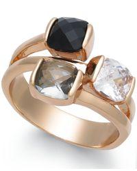 Charter Club - Metallic Gold-tone Triple-stone Ring - Lyst