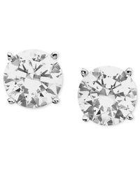 Macy's Metallic Certified Diamond Stud Earrings (1 Ct. T.w.) In 18k White Gold