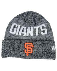 KTZ Black San Francisco Giants Crisp Color Cuff Knit Hat for men