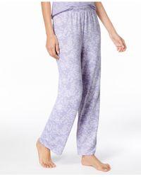 Charter Club Purple Printed Pajama Pants, Created For Macy's