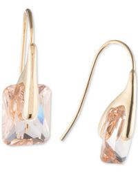 Ivanka Trump - Metallic Goldplated Crystal Drop Earrings - Lyst
