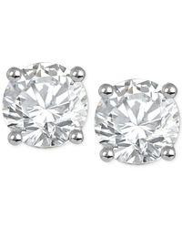 Macy's - Blue Diamond Stud Earrings (1/3 Ct. T.w.) In 14k White Or Yellow Gold - Lyst