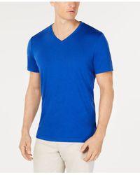 Alfani Blue Stretch T-shirt, Created For Macy
