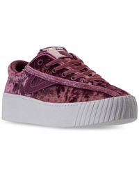 Tretorn Multicolor Women's Nylite 4 Bold Crushed Velvet Casual Sneakers From Finish Line