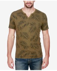 Lucky Brand | Green Men's Henley Cotton T-shirt for Men | Lyst