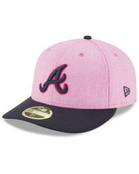 competitive price 5463d 9e08b Men s Pink Atlanta Braves Mothers Day Low Profile 59fifty Fitted Cap
