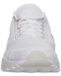 Nike White Women's Air Huarache Run Ultra Breathe Running Sneakers From Finish Line