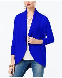 INC International Concepts Blue Curved-hem Cardigan