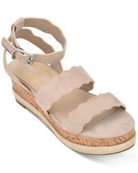 Marc Fisher Natural Fayme Flatform Sandals