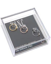 INC International Concepts - Multicolor I.n.c. Tri-tone Stainless Steel 3-pc. Set Nose Rings, Created For Macy's - Lyst