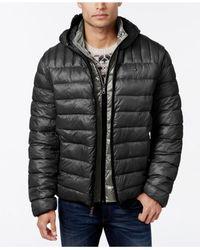 Tommy Hilfiger Purple Hooded Packable Jacket for men