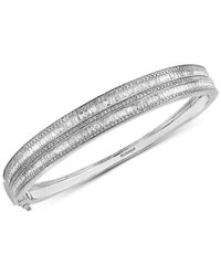 Effy Collection - Metallic Diamond Bangle Bracelet (2-1/3 Ct. T.w.) In 14k White Gold - Lyst