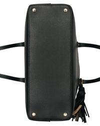 Calvin Klein - Black Maggie Leather Tote - Lyst