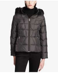 CALVIN KLEIN 205W39NYC - Multicolor Faux-fur-trimmed Hooded Puffer Coat - Lyst
