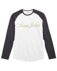 Sean John - White Men's Raglan Graphic-print T-shirt for Men - Lyst
