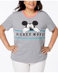 Disney - Gray Plus Size Chill Mickey Mouse T-shirt - Lyst