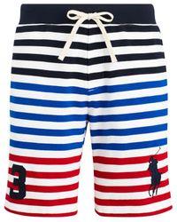 "Polo Ralph Lauren Men/'s RL 2000 Red Multi Stripe Mesh 9/"" Americana Shorts"