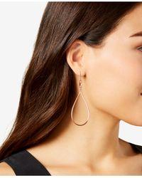 Michael Kors Metallic Sterling Silver Large Tear-shape Drop Earrings