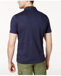 Tommy Hilfiger Blue Bernadino Rugby Polo Shirt for men