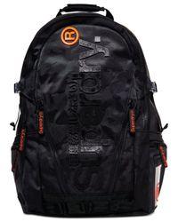 Superdry Black Camo Tarp Backpack for men