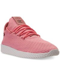 Adidas Originals Pink Men's Originals Pharrell Williams Tennis Hu Casual Sneakers From Finish Line for men