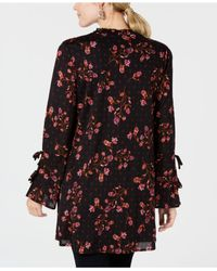 Style & Co. - Multicolor Printed Split-neck Tunic Top, Created For Macy's - Lyst