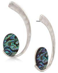 Robert Lee Morris - Metallic Silver-tone Abalone-look Swirl Drop Earrings - Lyst