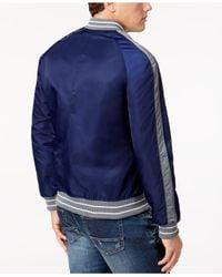 American Rag - Blue Men's Varsity-inspired Bomber Jacket for Men - Lyst
